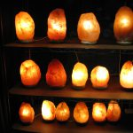 Himalayan Rock Salt lamps. In building 9. They have ionic properties.