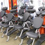 Accupressure massage chairs waiting for customers.