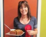 Gayle Bauer and her second-place bread.