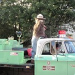 Smokey Bear waves to the crowd.
