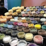 Rows and rows of glittery eyeshadow