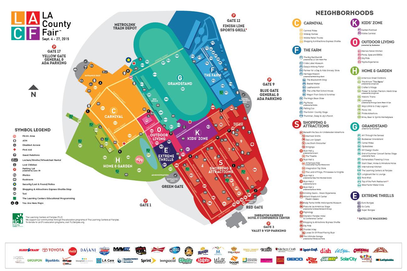 la county fair map