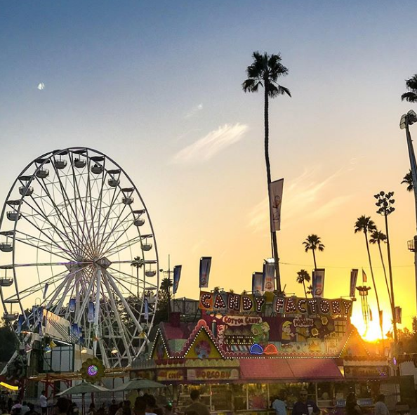 carnival sunset la county fair